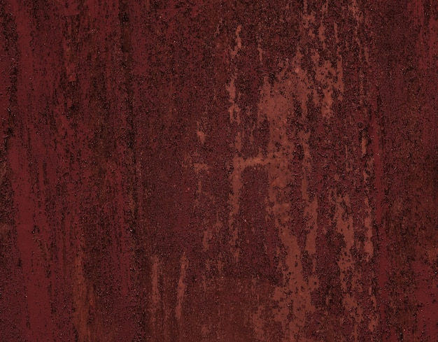 Bezszwowe czerwony trzask tekstury stare drzwi metalowe malowane wyblakły przez czas. kilka warstw odrapanej, łuszczącej się farby emaliowej.
