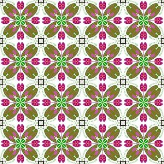 Bezszwowe kwiatowe mozaiki wzór abstrakcyjne tło
