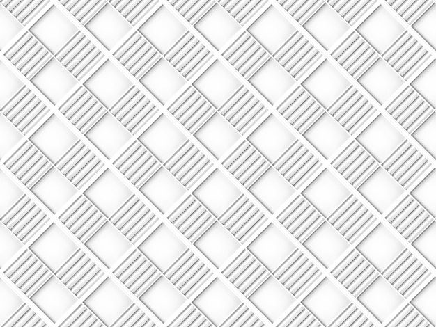 Bezszwowe nowoczesne białe kwadratowe siatki płytki wzór tekstury ścian
