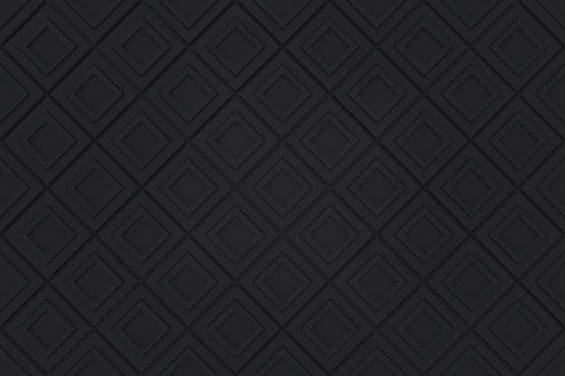 Bezszwowe nowoczesne czarne diangonal kwadratowy wzór siatki bloki ścienne tło.