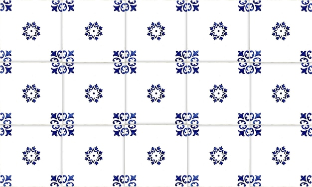 Bezszwowe tło płytki azulejo portugalia lub hiszpania. wysoka rozdzielczość.