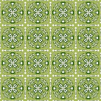 Bezszwowe tło wzór tradycyjnej zielonej mozaiki