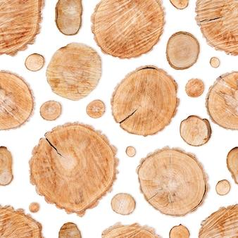 Bezszwowe tło wzór z bali drewna