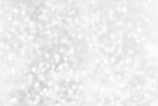 Biała bokeh abstrakta tekstura. niewyraźne jasne światło w nocy.