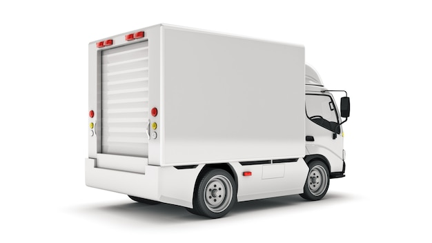 Biała ciężarówka dostawcza renderowanie 3d