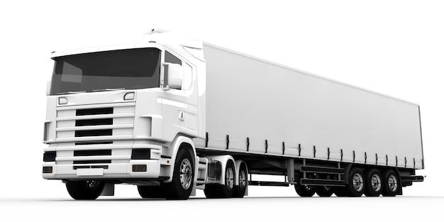 Biała ciężarówka
