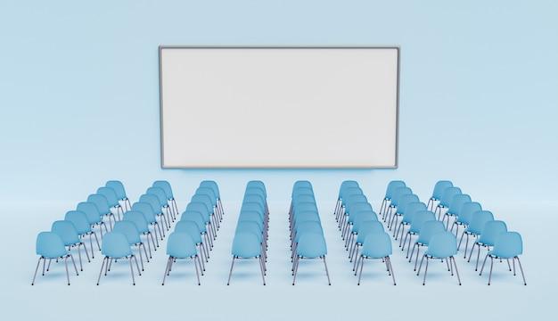 Biała deska z krzesłami