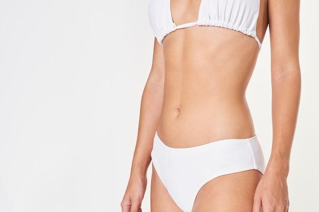 Biała dwuczęściowa makieta bikini dla kobiet