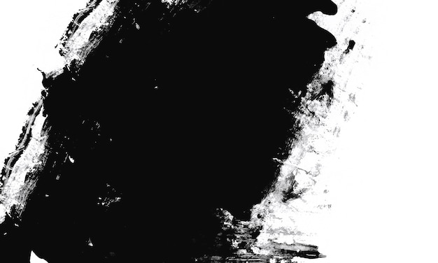 Biała farba na czarnym tle