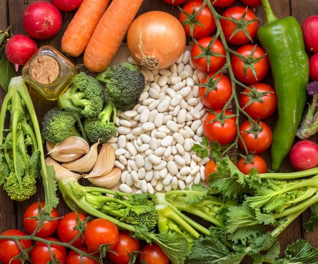 Biała fasola z warzywami