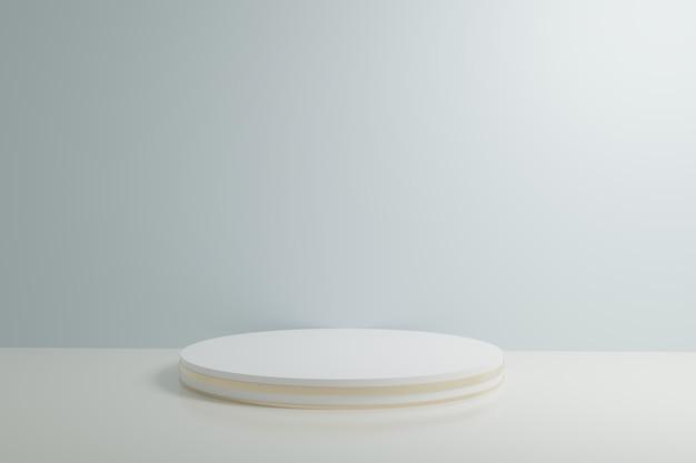 Biała i błękitna budka 3d renderingu tła ściana