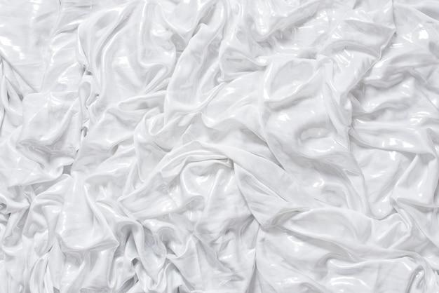 Biała jedwabna tkanina z brokatem
