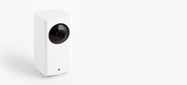 Biała kamera cctv lub monitoring