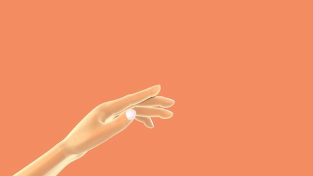 Biała kobieta pomaga ręce