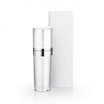 Biała kosmetyczna butelka i opakowanie