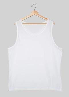 Biała koszula z mięśniami w stylu streetwear