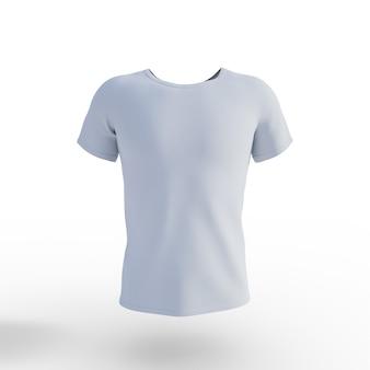 Biała koszulka na białym tle. renderowanie 3d