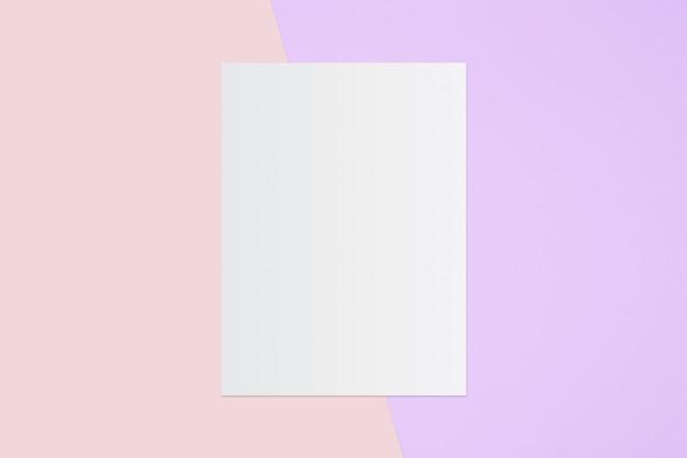 Biała księga i miejsce na tekst na pastelowy kolor tła, minimalne pojęcie