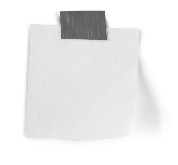 Biała księga notatka, pusta tekstura na białym tle