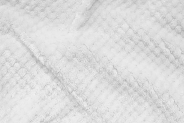 Biała kudłaty koc tekstura jako tło