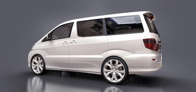 Biała mała minivan