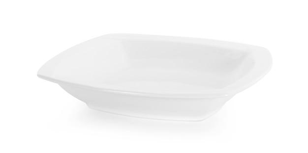 Biała miska na białym tle