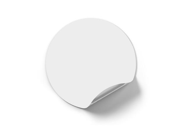 Biała naklejka na białym tle z tła