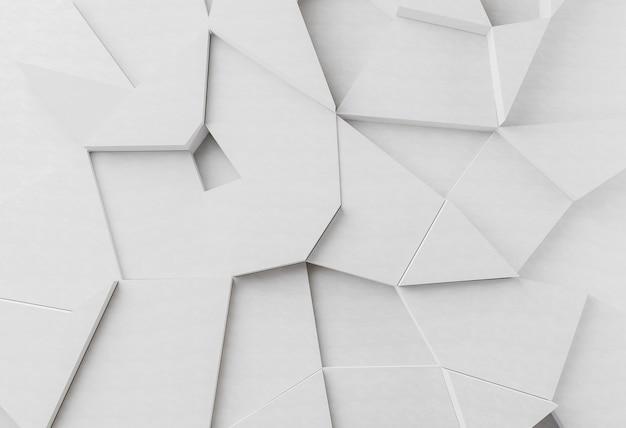 Biała nowoczesna tapeta geometryczna