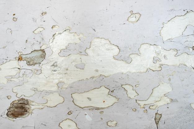 Biała obieranie farba, stara farby tekstura na drewnianej powierzchni