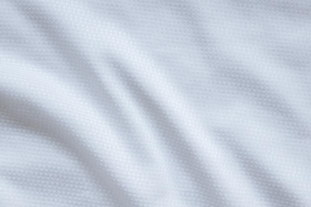 Biała odzież sportowa tkanina piłkarska koszulka jersey tekstura tło