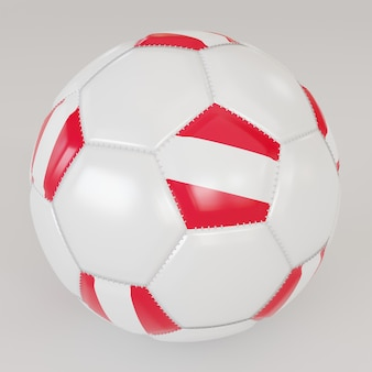 Biała piłka z flagą austrii na białym tle
