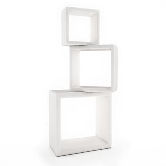 Biała półka na białym tle