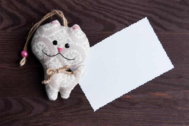 Biała pusta notatka