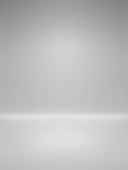 Biała pusta tablica na stół z gradientowym oświetleniem używanym jako tło i ekspozycja produktu