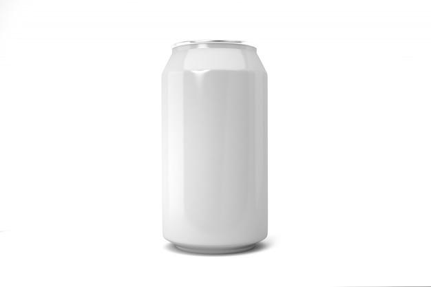 Biała puszka po napojach