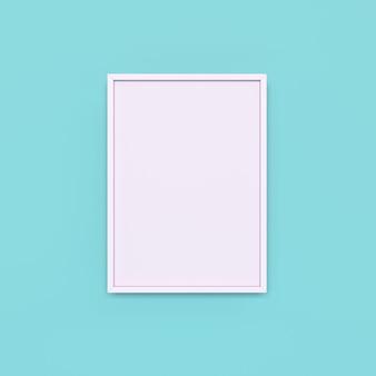 Biała ramka na jasnoniebieskim tle