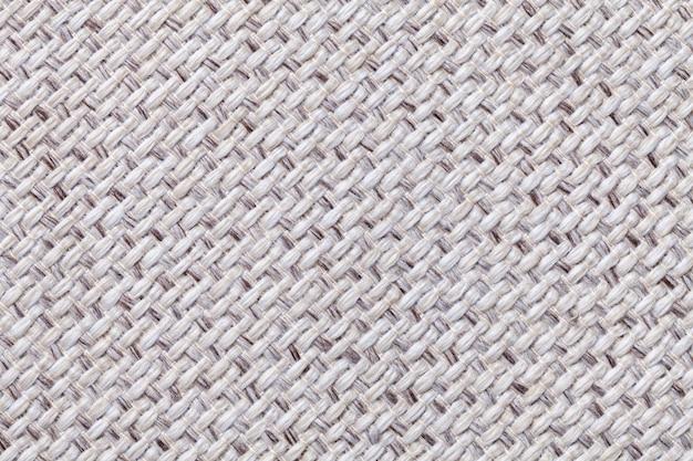 Biała rocznik tkanina z tkaną teksturą tekstylny makro- tło
