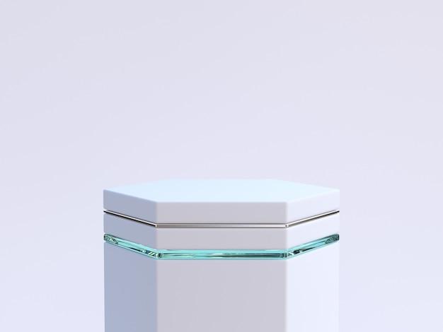 Biała scena minimalne streszczenie puste podium renderingu 3d