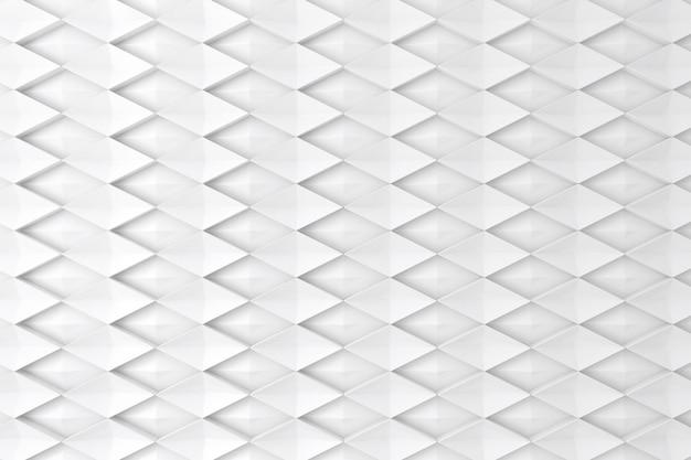 Biała ściana w kształcie diamentu 3d jako tło, tło lub tapeta