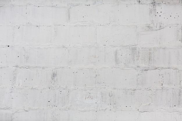 Biała ściana z cegieł bezszwowa deseniowa tekstura