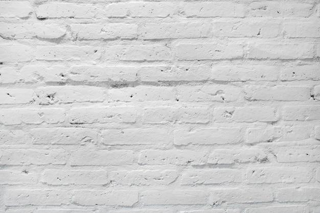 Biała ściana z cegieł tekstura dla tła.