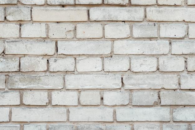Biała ściana z cegieł tła tekstura