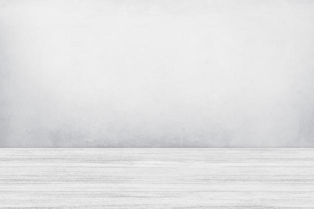 Biała ściana z szarym tłem produktu podłogowego