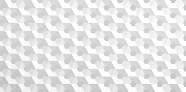 Biała siatka komórek w postaci sześciokątnych plastrów miodu o różnej średnicy, które przechodzą od większych do mniejszych i odwrotnie. ilustracja 3d