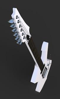 Biała stylowa gitara elektryczna