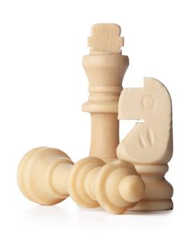 Biała szachownica na białym tle