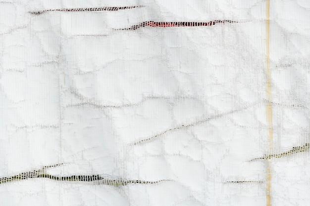 Biała tekstura plandeki ciężarówki z recyklingu