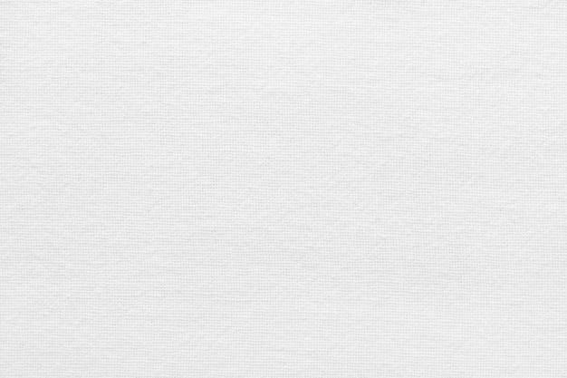 Biała tkanina bawełniana tekstura tło, wzór z naturalnej tkaniny.