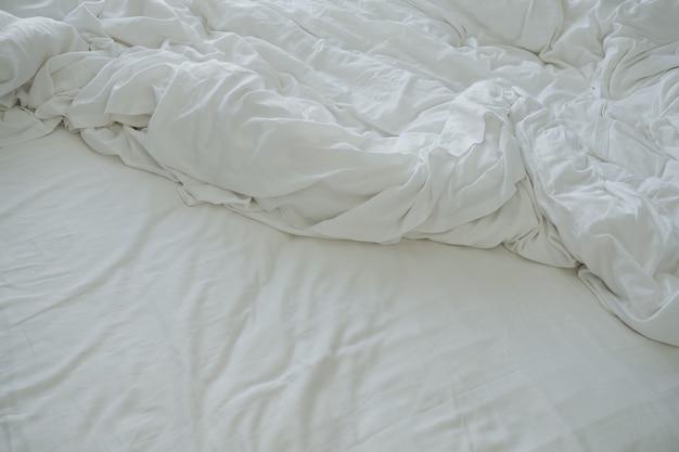 Biała tkanina. białe tło . abstrakcyjny