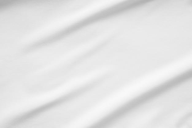 Biała tkanina gładka tekstura powierzchni tła